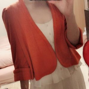 Snidel Cropped Velour Bolero Jacket
